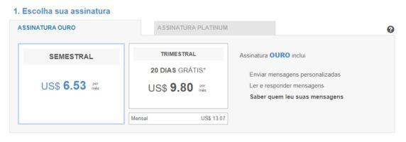 Plano Platinun Match.com Preço
